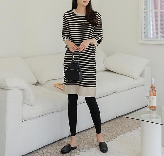 soim-[임부복*시나몬단가라니트 임산부원피스]♡韓國孕婦裝連身裙