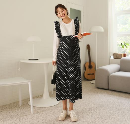 soim-[임부복*러블리프릴멜빵 임산부원피스]♡韓國孕婦裝連身裙