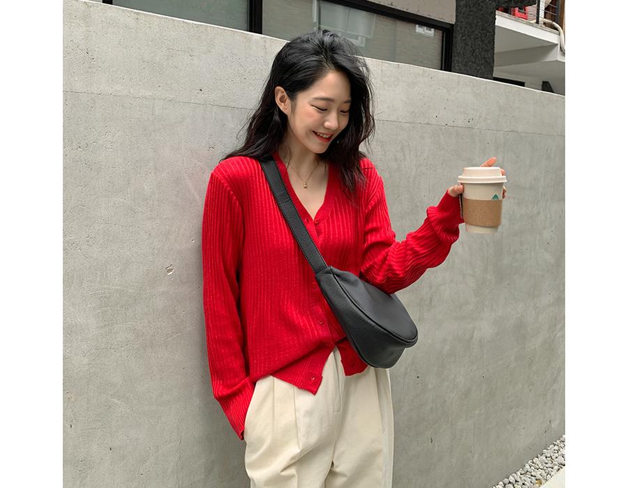 frombeginning-[6천장돌파][MADE]컬러버튼골지가디건(RM) (4color)♡韓國女裝外套