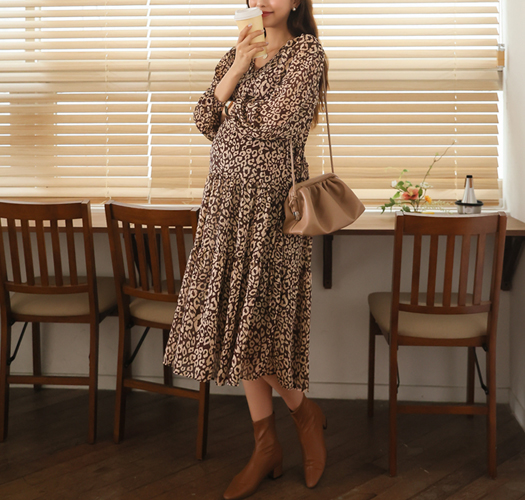 soim-[임부복*레오파드스트링 임산부원피스]♡韓國孕婦裝連身裙