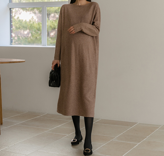 soim-[임부복*캐미보트넥니트 임산부원피스]♡韓國孕婦裝連身裙
