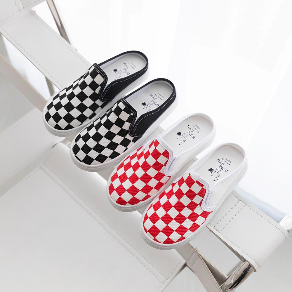 little-bro-체크뮬스니커즈[신발BDAF39]♡韓國童裝鞋