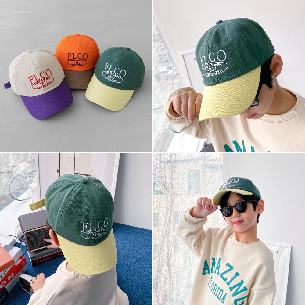 little-bro-페코배색캡[모자BDA479]♡童裝帽