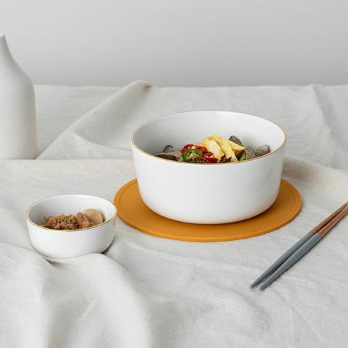 ssueim-黃金圈麵碗套裝(麵碗+筷子+餐具)♡韓國家品碗具