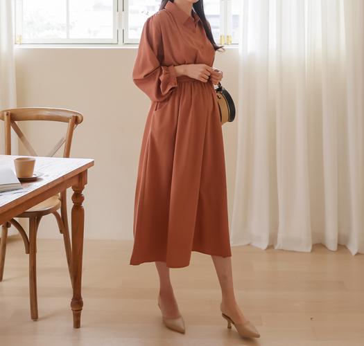 soim-[임부복*실키카라조절 임산부원피스]♡韓國孕婦裝連身裙