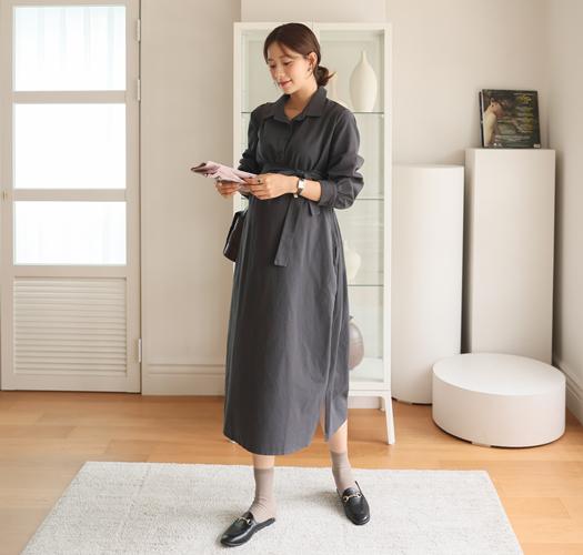 soim-[임부복*코니아피치셔츠 임산부원피스]♡韓國孕婦裝連身裙