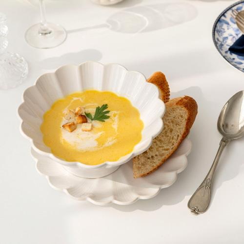 ssueim-kielo -MARJA KURKI COLLECTION麵碗(奶白色/鈷藍色)-♡韓國家品碗具