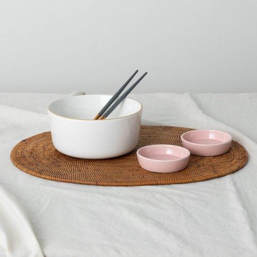 ssueim-黃金圈麵碗套裝(麵碗+筷子+迷你餐具2p)♡韓國家品碗具