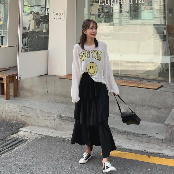 theresheis-디뷰스 캉캉 롱 스커트♡韓國女裝裙