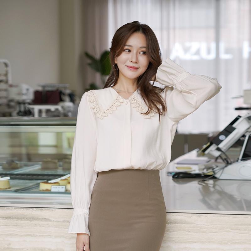 clicknfunny-멜오링 레이스블라우스♡韓國女裝上衣