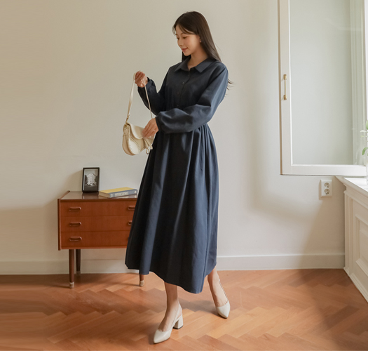 soim-[[오픈특가 10%]임부복*파이스밴딩피치카라 임산부원피스]♡韓國孕婦裝連身裙