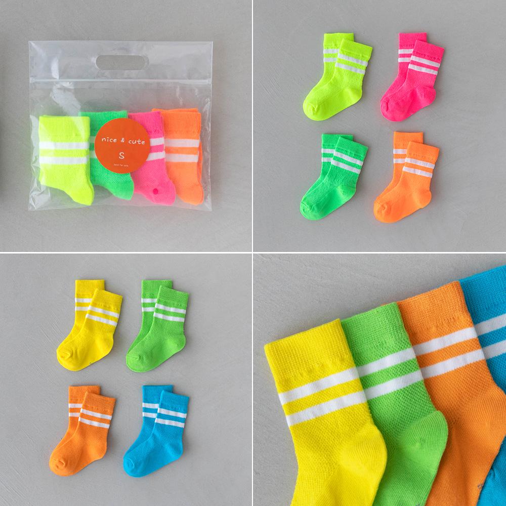 little-bro-형형색색양말4종세트[양말BDCZ85]♡(4對裝)童裝襪子