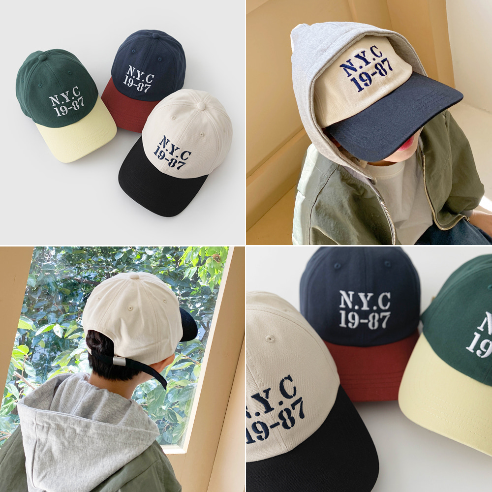 little-bro-유어러빈배색캡[모자BDG57]♡童裝帽