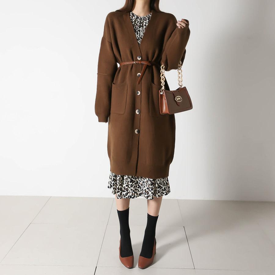 blancjo-심플 포켓 도톰 롱가디건_cd05043♡韓國女裝外套