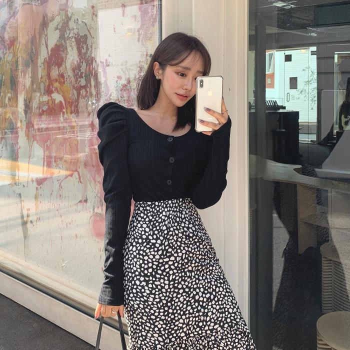 theresheis-엘로즈 퍼프 가디건♡韓國女裝外套