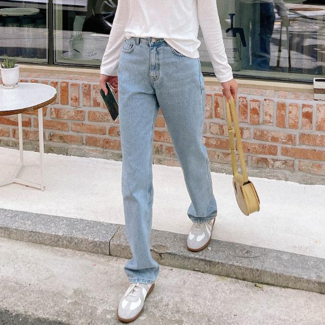 banharu-반하루[니키 일자핏 맥시데님팬츠]♡韓國女裝褲