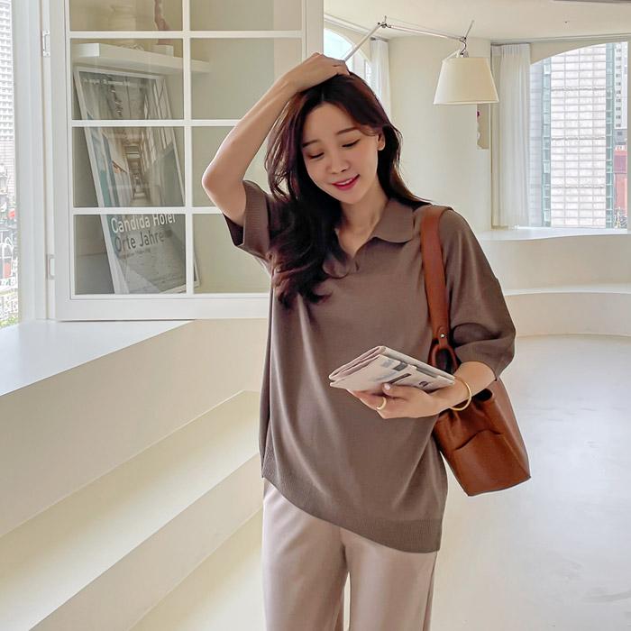 momnuri-임부복*보앤 카라 니트 ♡韓國孕婦裝上衣