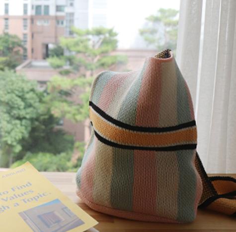 leelin-[자가드 니트 가방]♡韓國女裝袋
