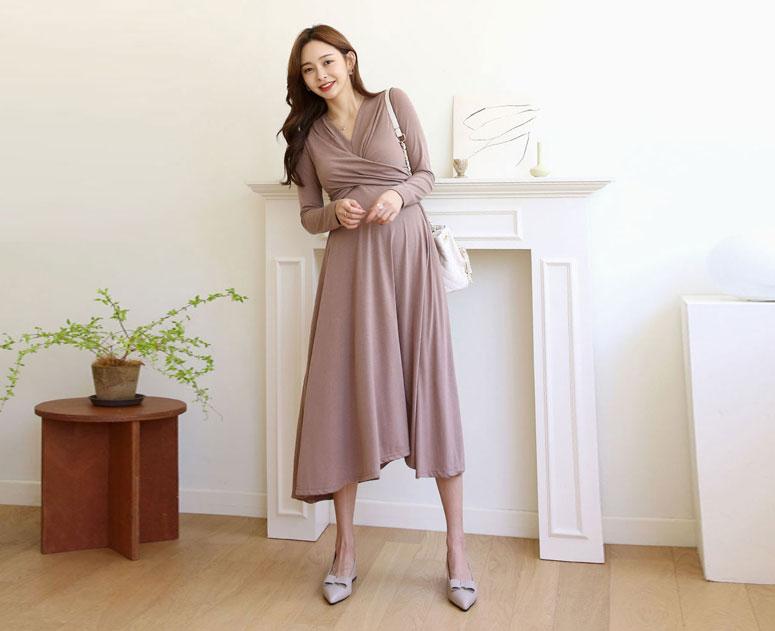 happy10-[*만삭셀프촬영룩 추천*임부복*트윗볼륨 원피스]♡韓國孕婦裝連身裙