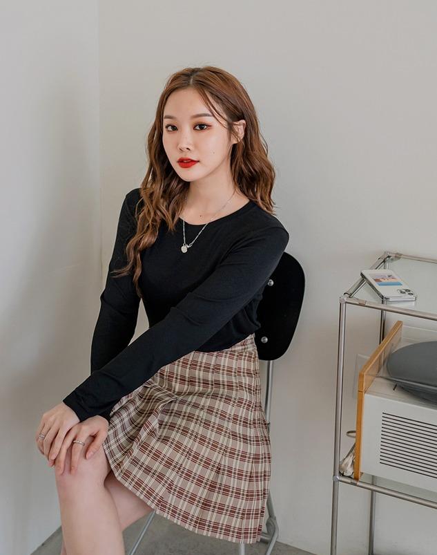 loloten-베이브 스판골지티♡韓國女裝上衣