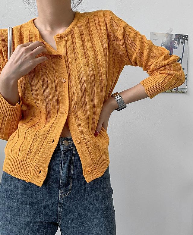 merongshop-[무료배송] 루비 골지 라운드 가디건 - 5 color♡韓國女裝外套
