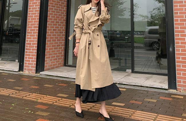 minsshop-(면100%)에디트 트렌치 코트♡韓國女裝外套