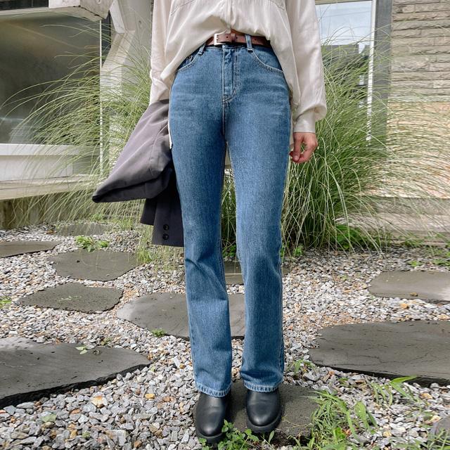 banharu-반하루[하이드 세미부츠컷 데님팬츠]♡韓國女裝褲
