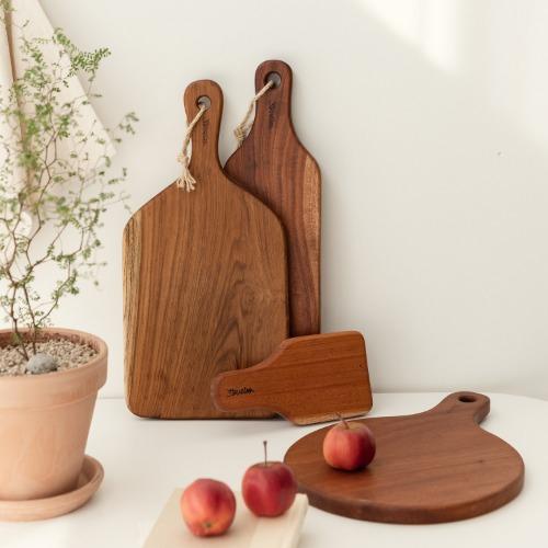 ssueim-4種桃花心木手柄板(基本款/圓形款/長款修身款/迷你甜品款)♡韓國家品廚具