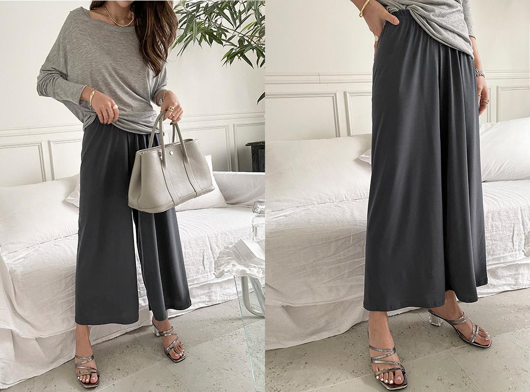naning9-모페드 찰랑와이드밴딩팬츠(C08)♡韓國女裝褲