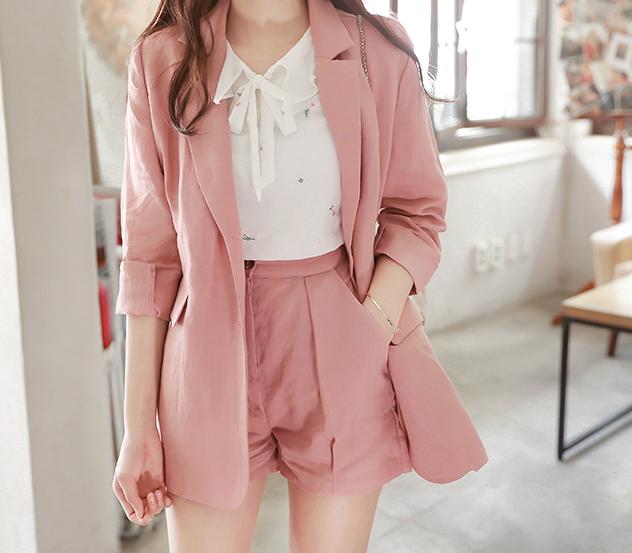 myfiona-러브체리스 린넨자켓과 팬츠셋트 m3949 - 러블리 로맨틱 1위 쇼핑몰 피오나♡韓國女裝套裝
