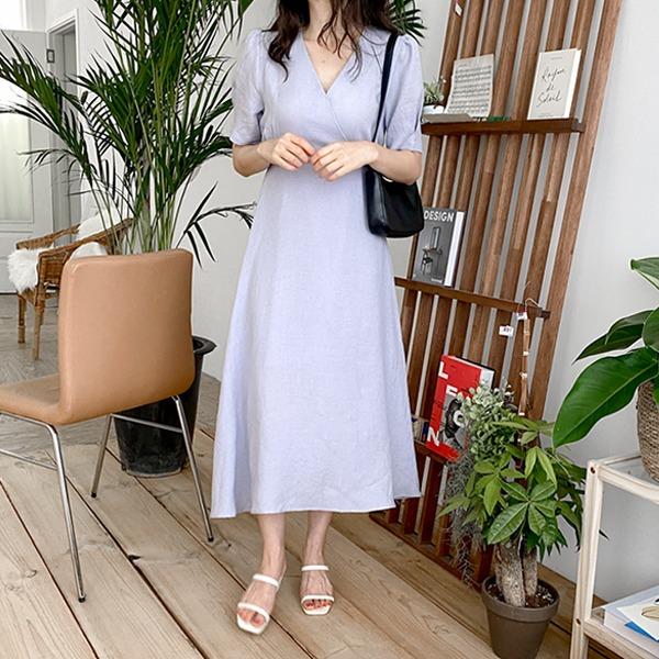realcoco-♥NEW10%할인♥캐니시 반팔 롱원피스(하객룩)♡韓國女裝連身裙