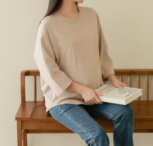 soim-[임부복*돌먼뒷트임 7부티셔츠]♡韓國孕婦裝上衣