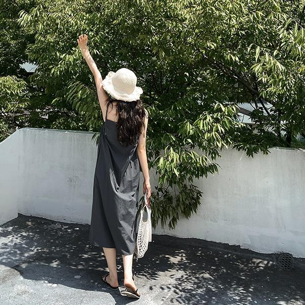 realcoco-♥NEW10%할인♥로엠 바스락 나시 롱원피스(바캉스룩/데이트룩)♡韓國女裝連身裙