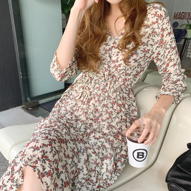 cherryville-[입으면넘예뻐 플라워원피스]♡韓國女裝連身裙
