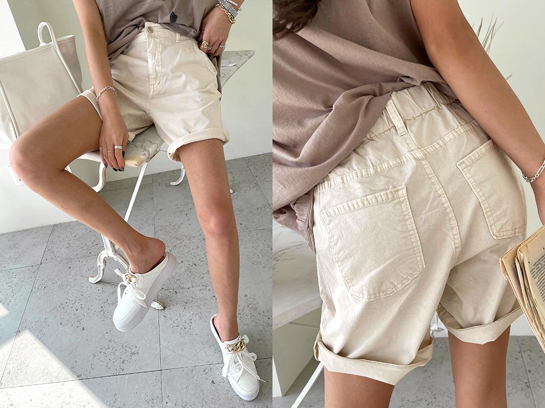 naning9-린다프 뒷밴딩4부팬츠(C08)♡韓國女裝褲