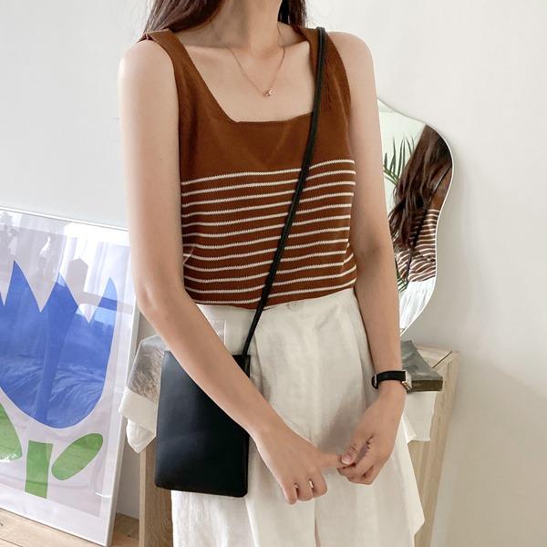 realcoco-♥NEW10%할인♥마린 스트라이프 니트나시(데일리/바캉스룩)♡韓國女裝上衣