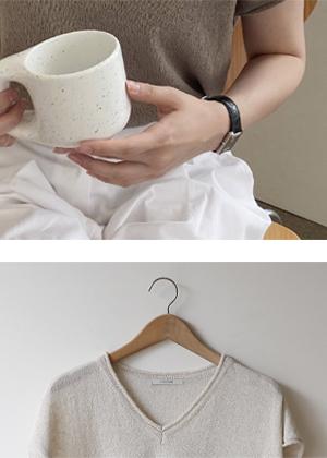 annanblue-[모먼트 v knit]♡韓國女裝上衣