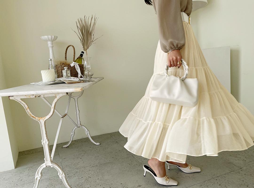 naning9-메이요 밴딩캉캉스커트(C07)♡韓國女裝裙
