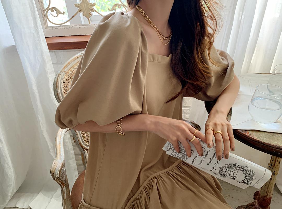 naning9-로모브 벌룬스퀘어원피스(C08)♡韓國女裝連身裙