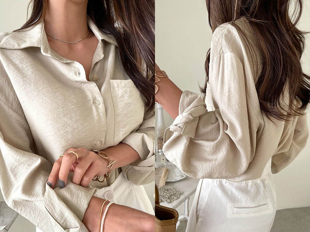 naning9-루든베 아이스카라셔츠(C07)♡韓國女裝上衣