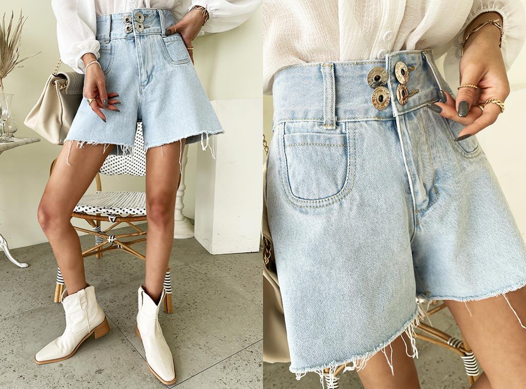 naning9-세오즈 하이웨스트데님숏팬츠(C07)♡韓國女裝褲