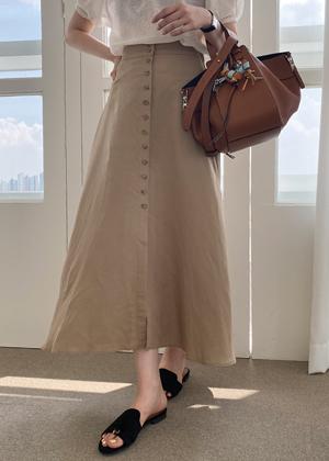 annanblue-[그레이스 button sk]♡韓國女裝裙