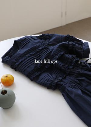 annanblue-[Jane 프릴 ops]♡韓國女裝連身裙