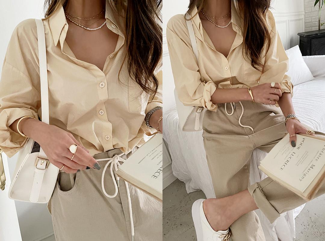 naning9-러제스 사계절코튼셔츠(C08)♡韓國女裝上衣