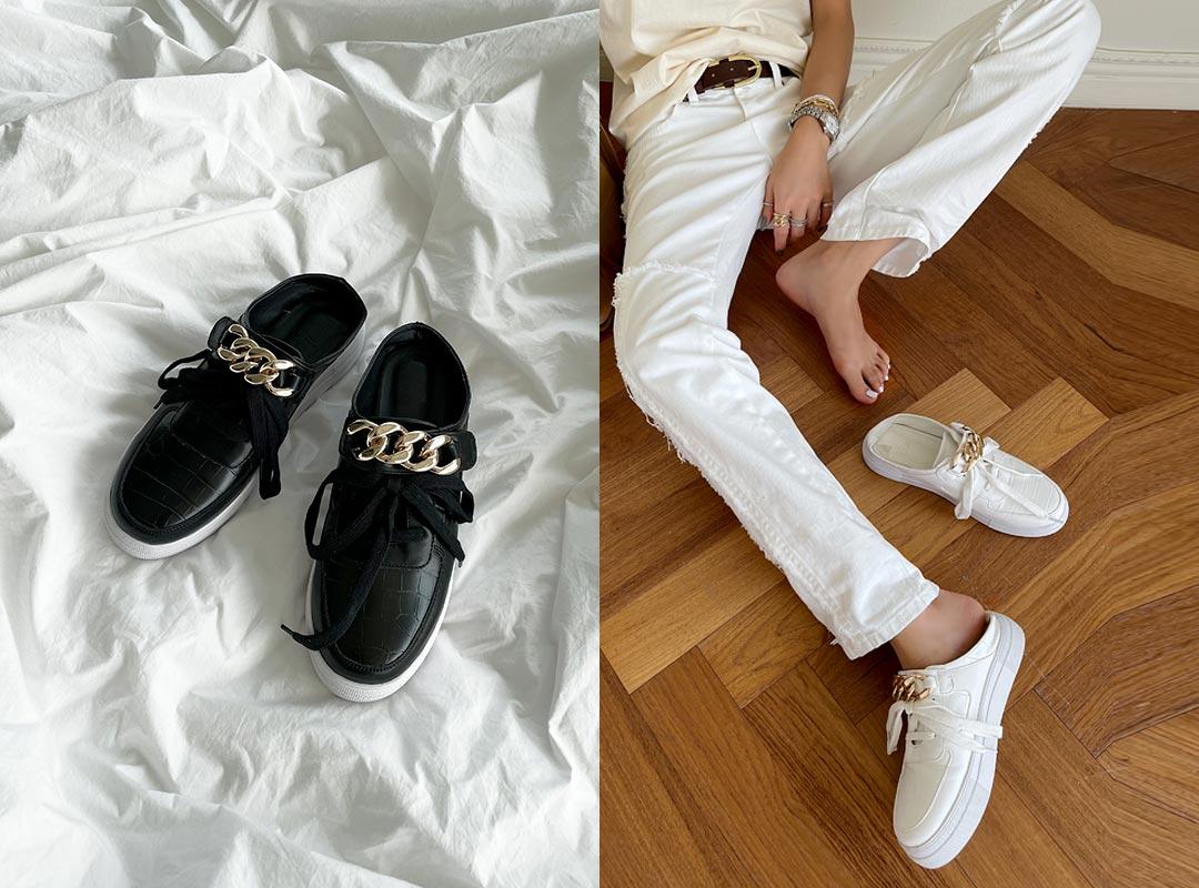 naning9-호아츠 체인뮬운동화(C08)♡韓國女裝鞋