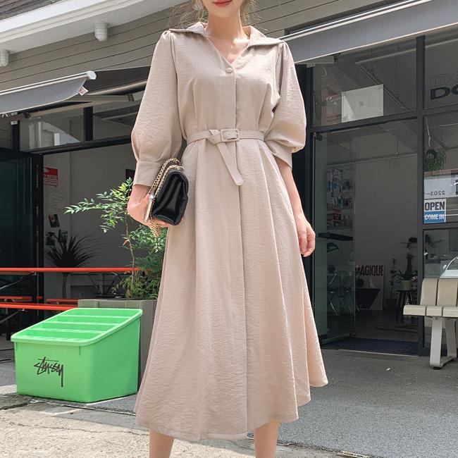 cherryville-[이순간이대로 롱원피스 벨트SET]♡韓國女裝連身裙