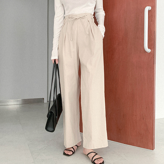 cherryville-[늘함께하자 밴딩코튼팬츠]♡韓國女裝褲