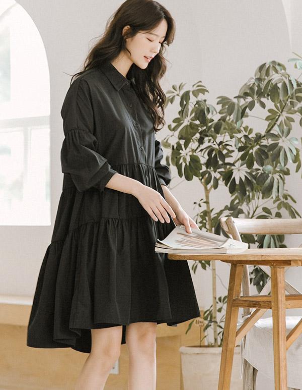goroke-[무스카라 캉캉ops*2c]♡韓國女裝連身裙