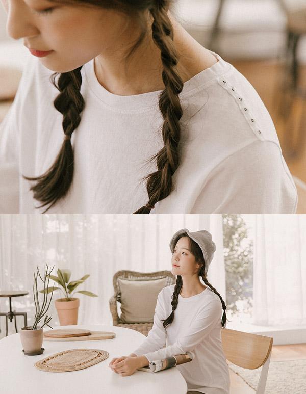 goroke-[견장단추 데일리T*4c]♡韓國女裝上衣