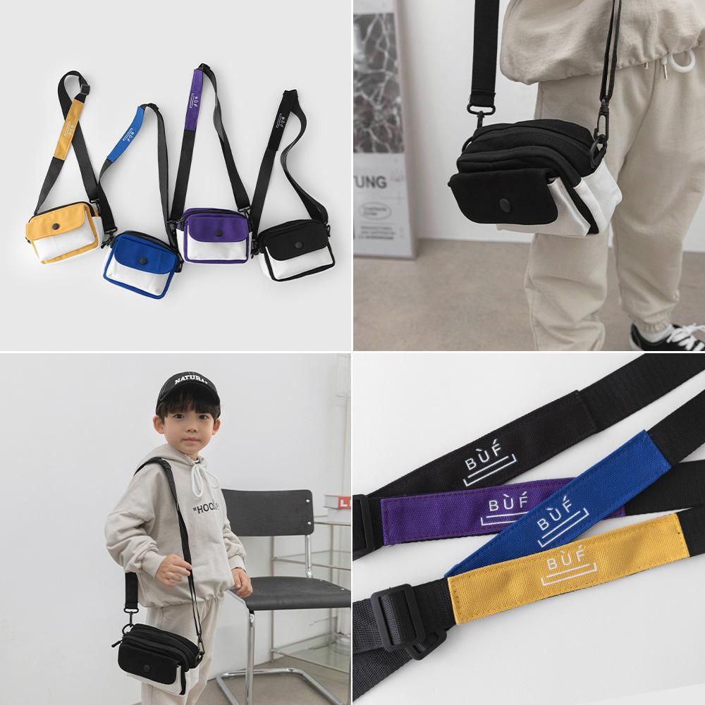 little-bro-투톤배색크로스백[가방BDHT24]♡童裝袋
